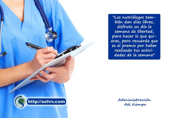 Nutriólogo - Administración del tiempo - Selvv