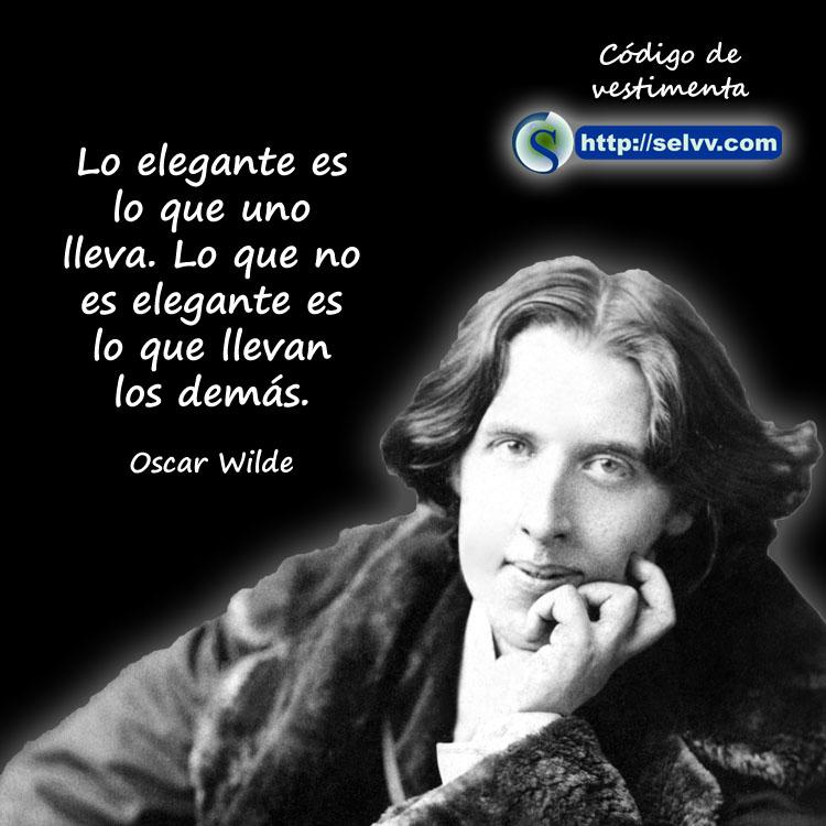 Oscar Wilde - Código de vestimenta - Selvv